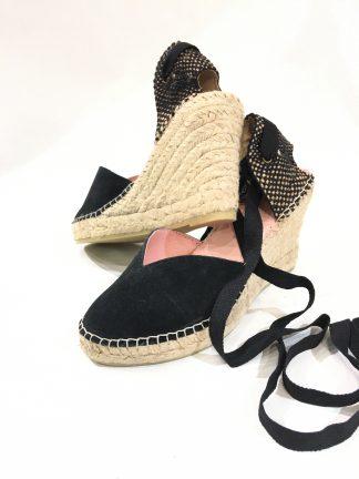 Sorte sandaler kilehel