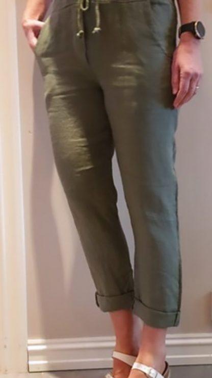 Pepper linbukse grønn – Pepper Tindra bukse i lin - grønn – Mio Trend
