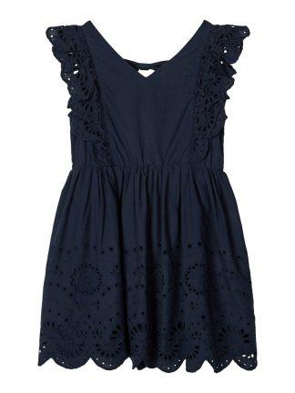 Marineblå kjole barn