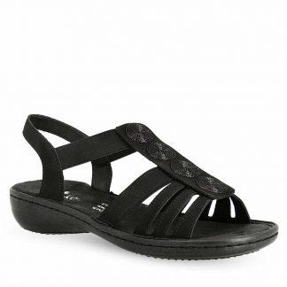 Svart sandal Rieker