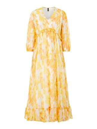 Gul lang kjole Yas