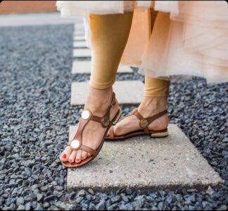 Brun lav sandal