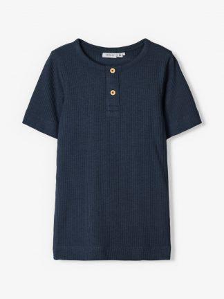 T-skjorte viskose mørke blå