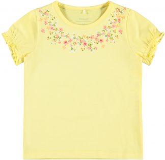 Gul t-skjorte jente