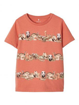 Name It rustrød t-skjorte