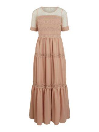 Beige lang kjole