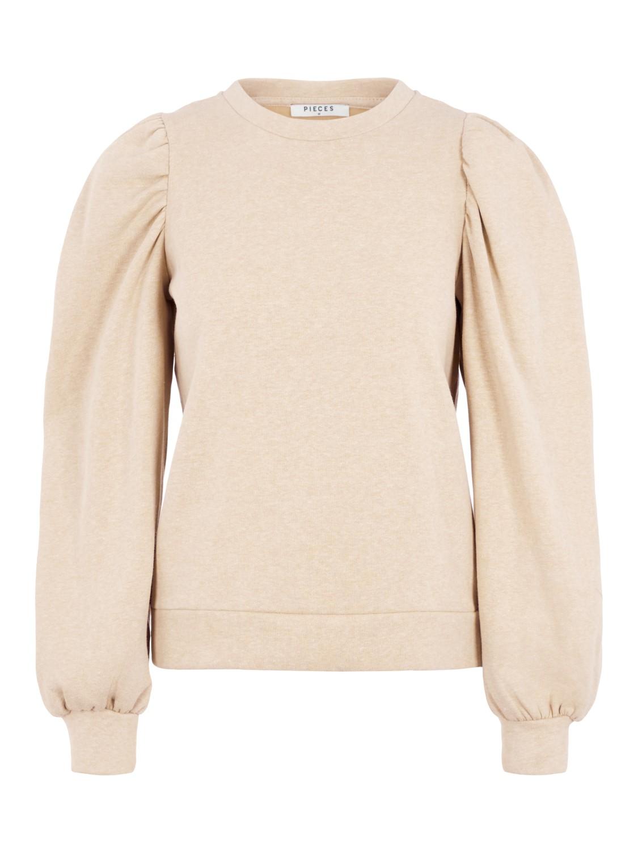Beige genser puffermer