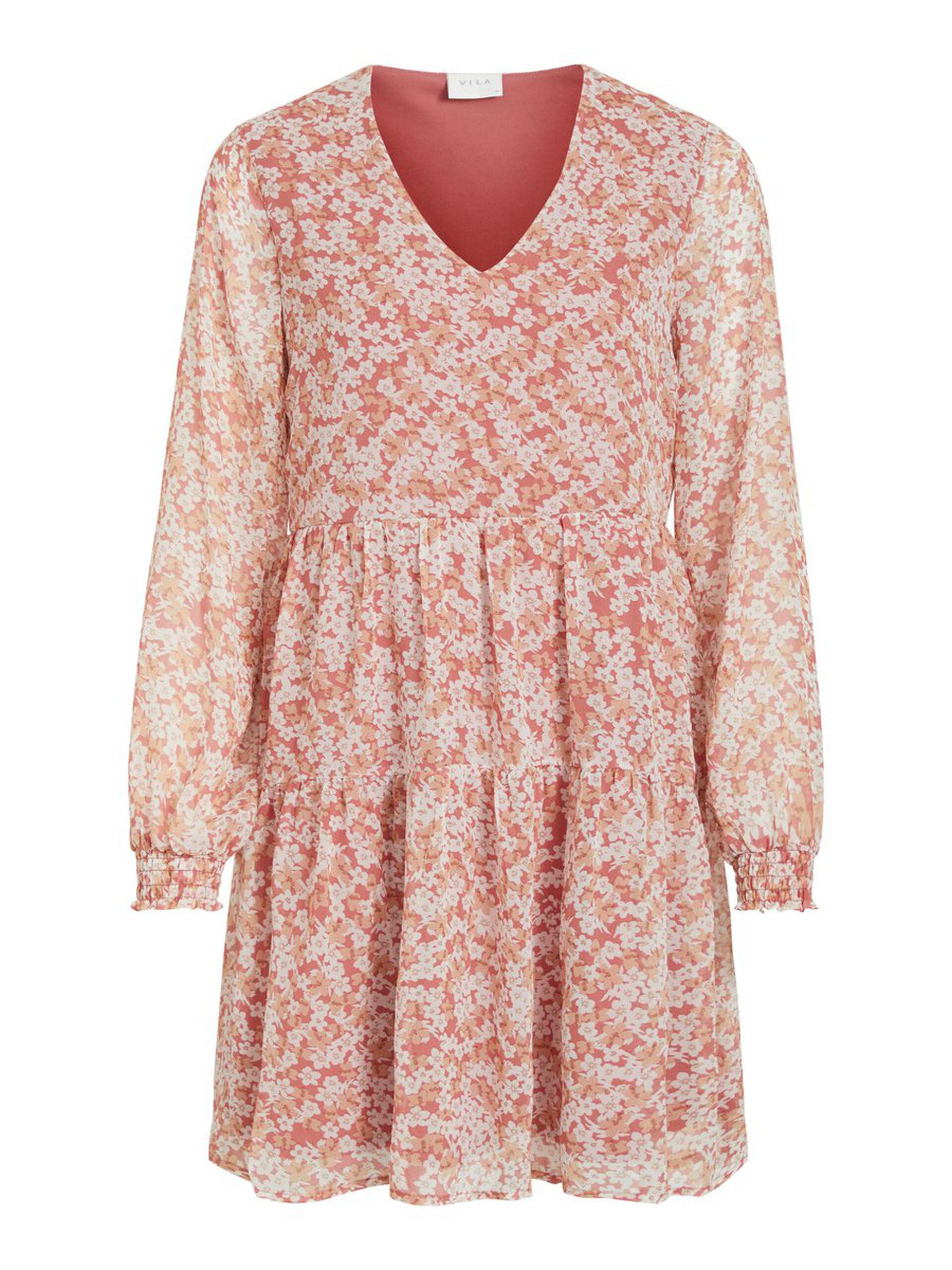 Vila rosa kjole blomster