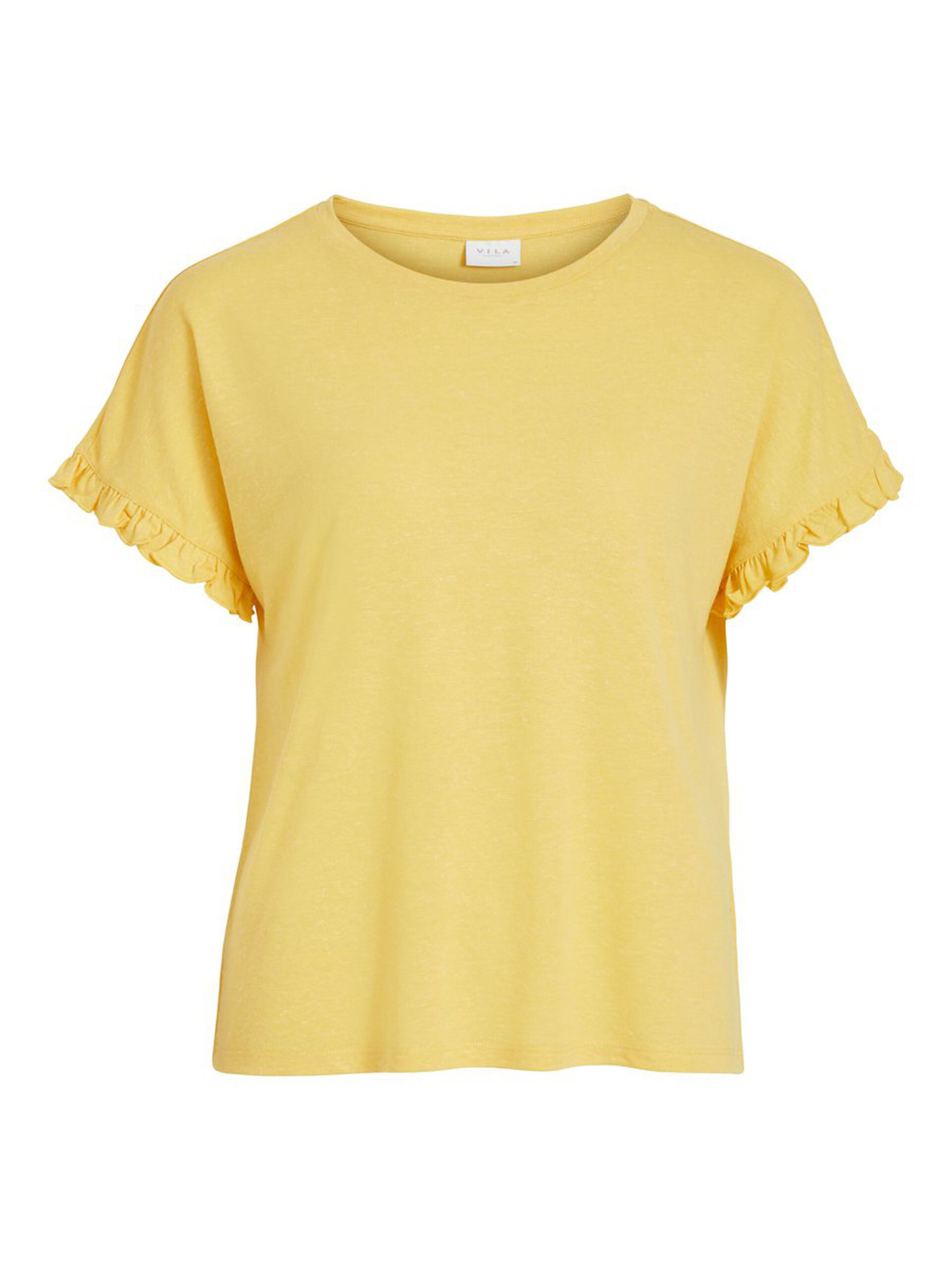 Gul t-skjorte lin