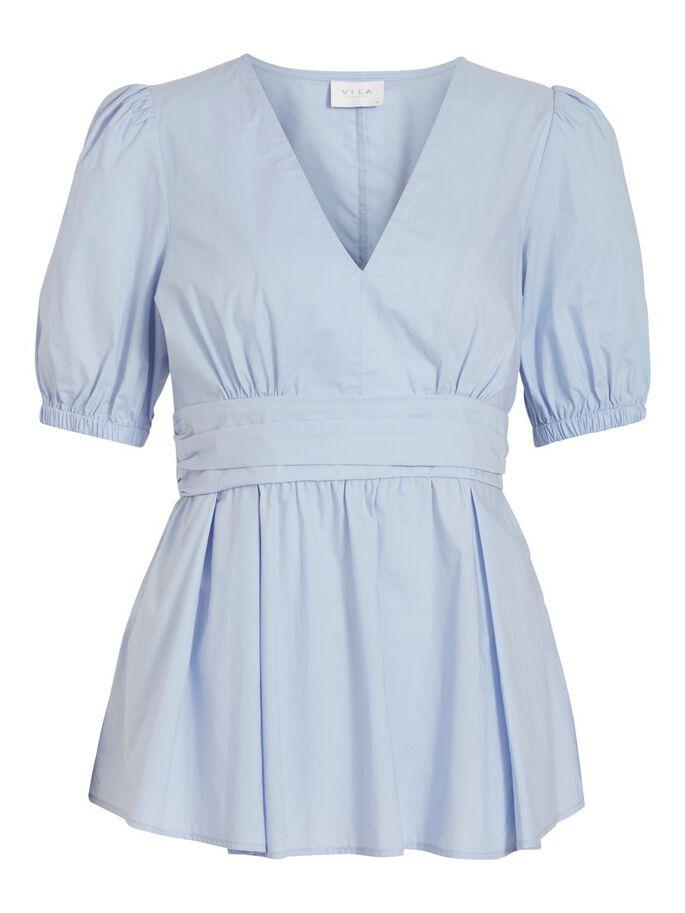 Vila lyse blå bluse