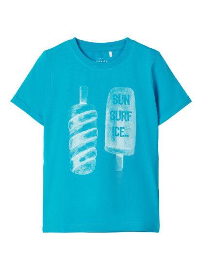 Blå Name It t-skjorte – T-skjorter blå t-skjorte Vux – Mio Trend