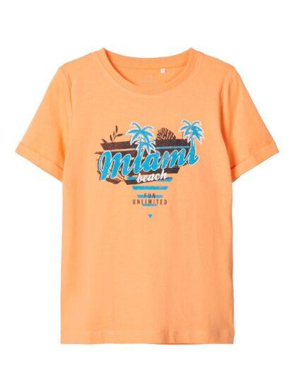Oransje t-skjorte Name I – T-skjorter oransje t-skjorte Vux – Mio Trend