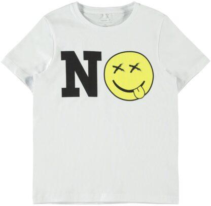 Name It t-skjorte Smiley – T-skjorter hvit t-skjorte Happy – Mio Trend