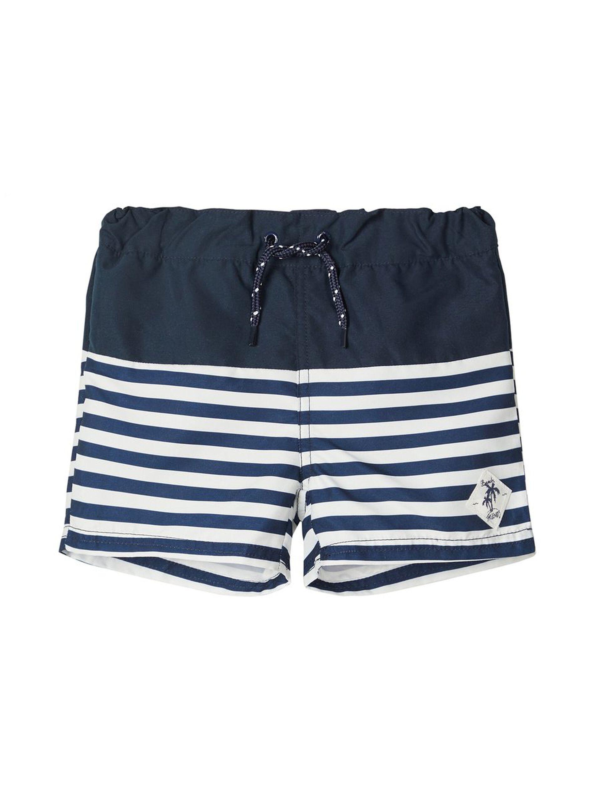 Marineblå badeshorts til gutt