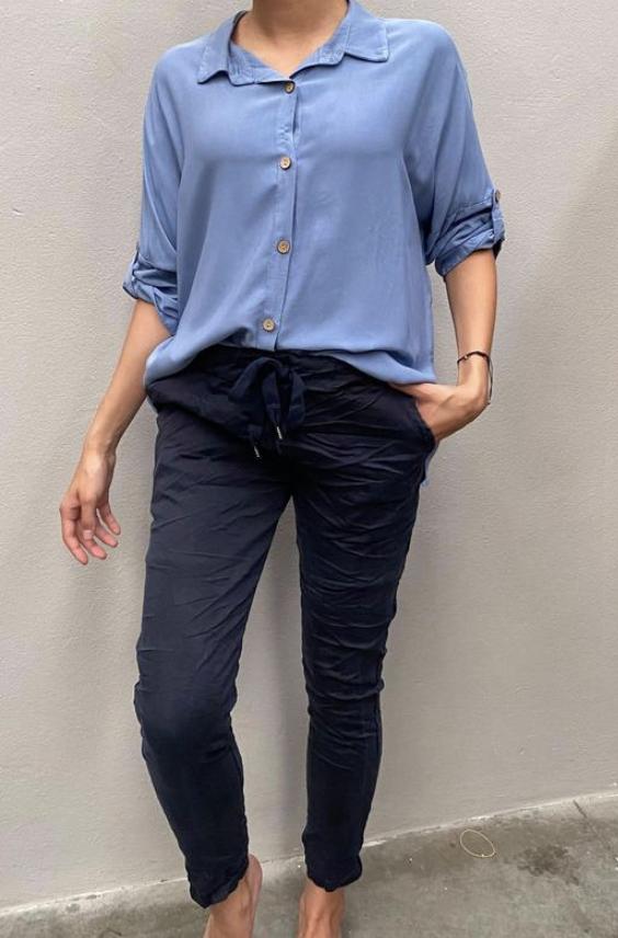 Pepper bukse blå Tindra