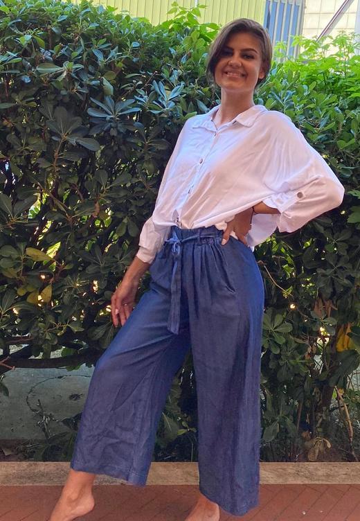 Pepper bukse Abby blå