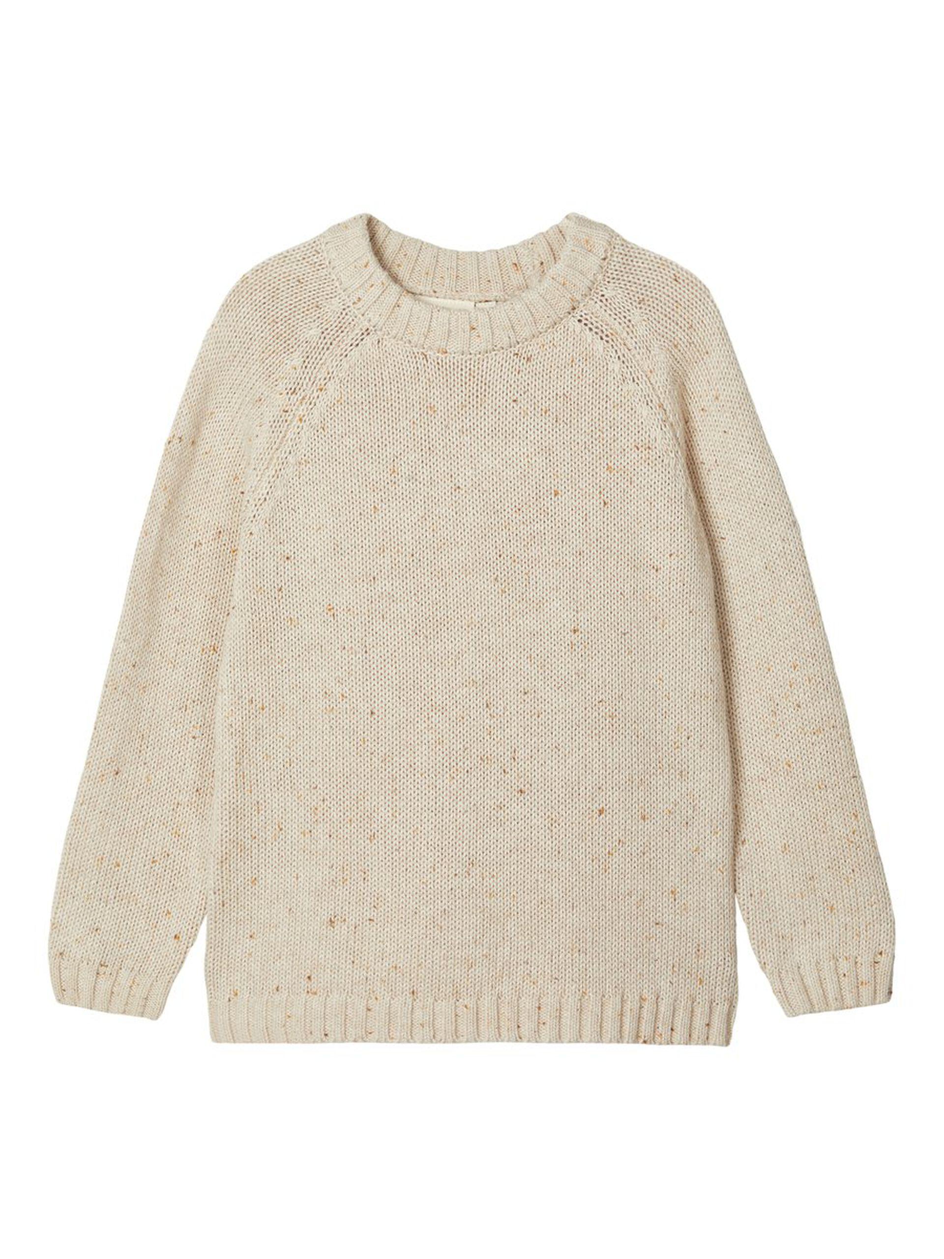 Beige strikkegenser barn