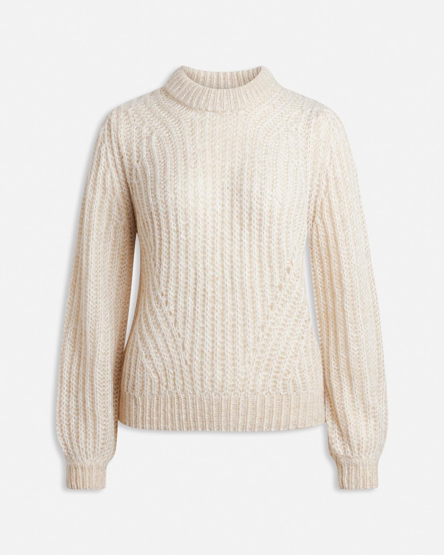 sort genser med puffermer Anna MioTrend