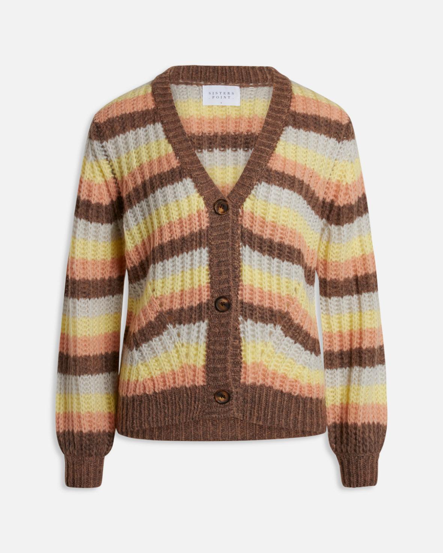 Brun stripete jakke