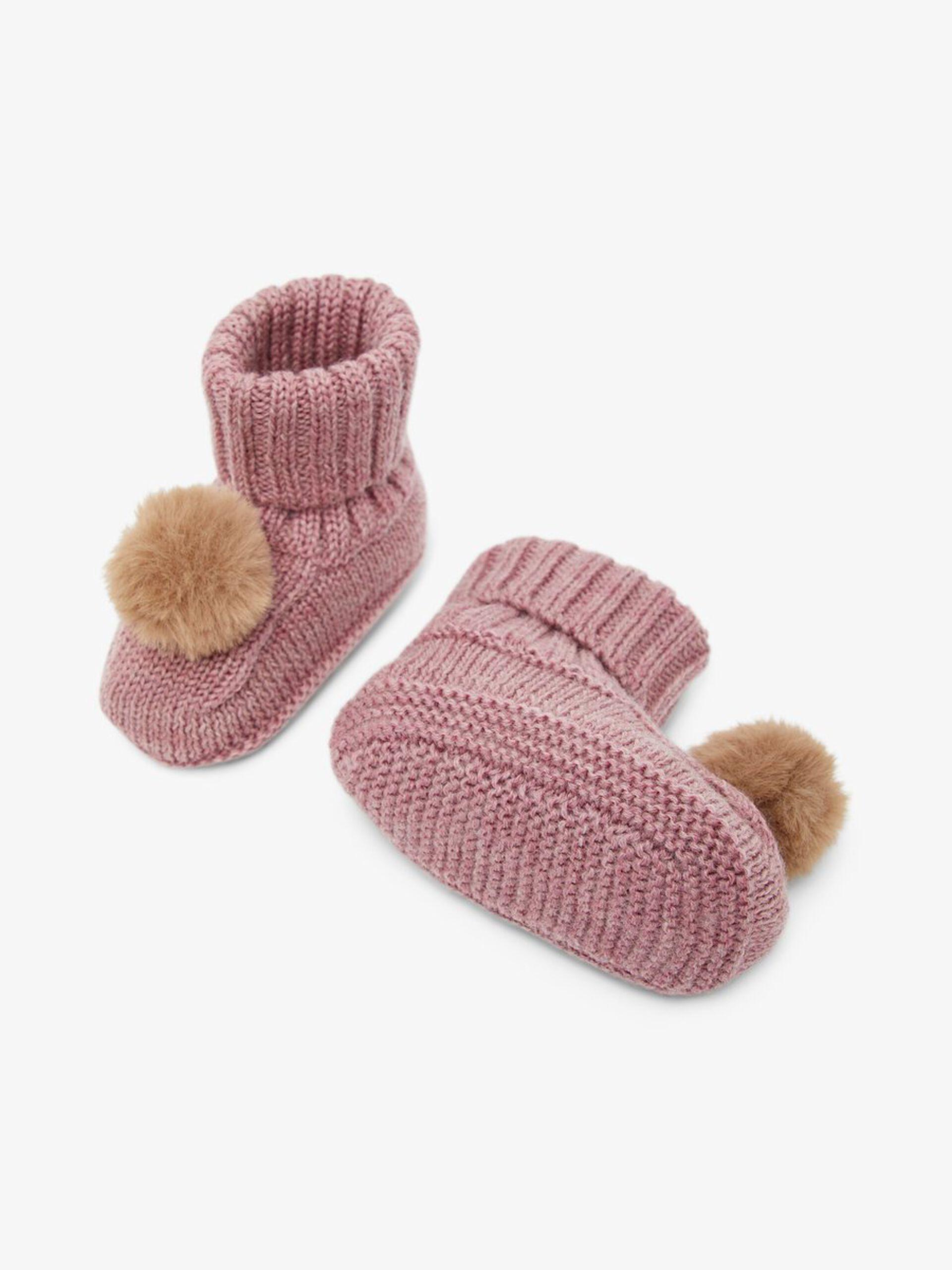 Rosa slippers i ull