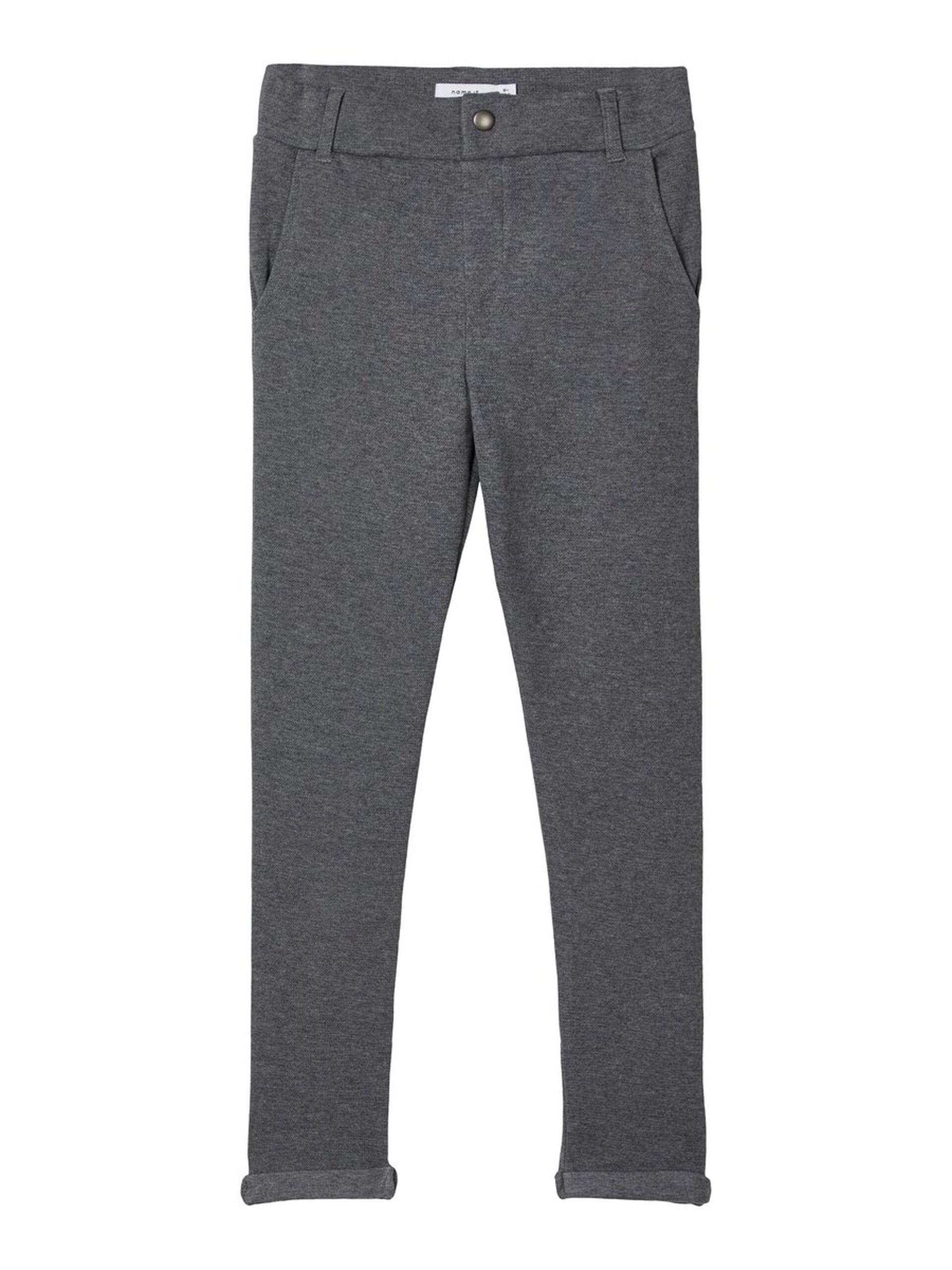 Smal joggebukse barn – Name It grå sweat-pant  – Mio Trend