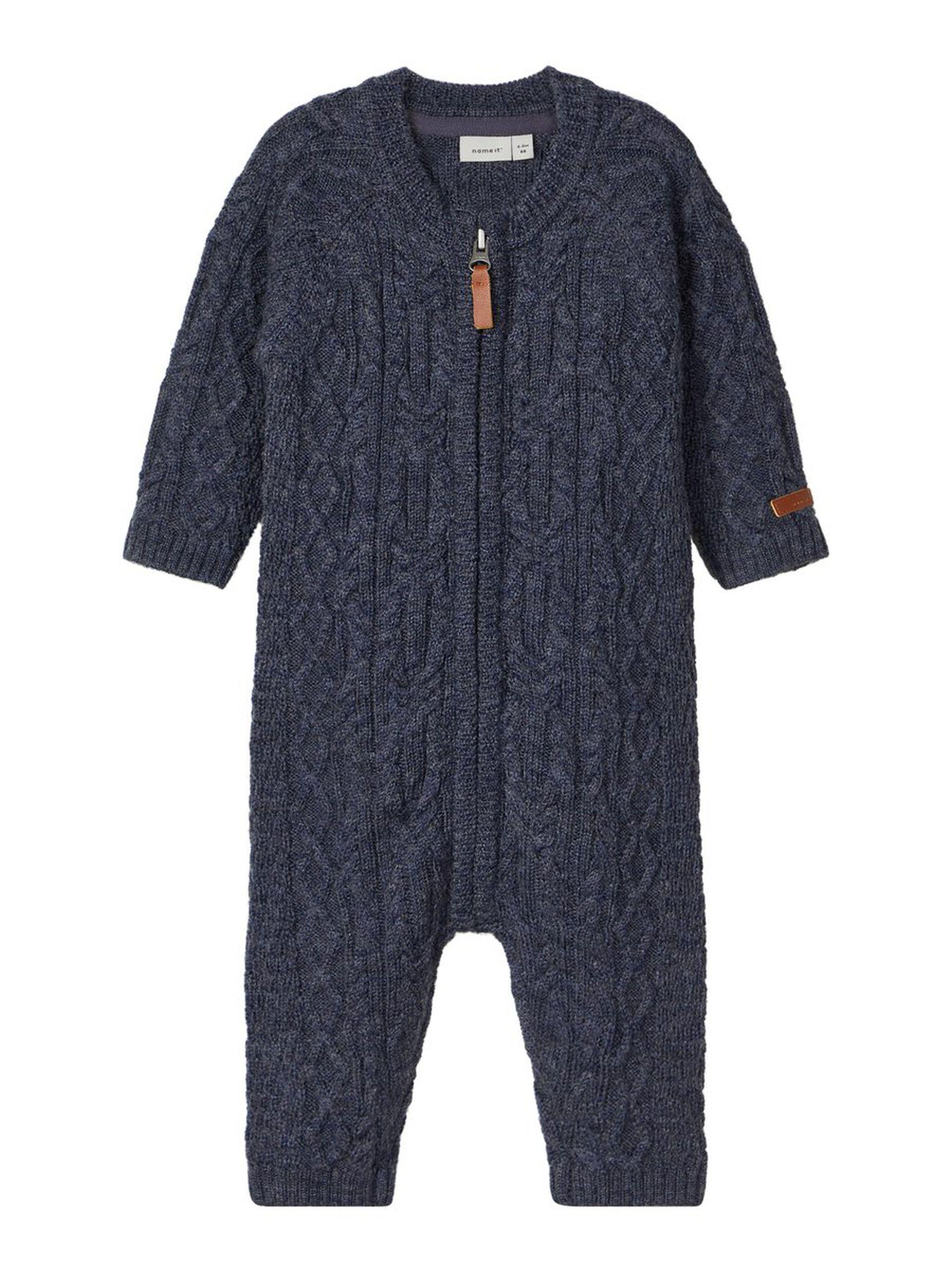Blå ulldress baby – Ull blå ulldress baby Wrilla – Mio Trend