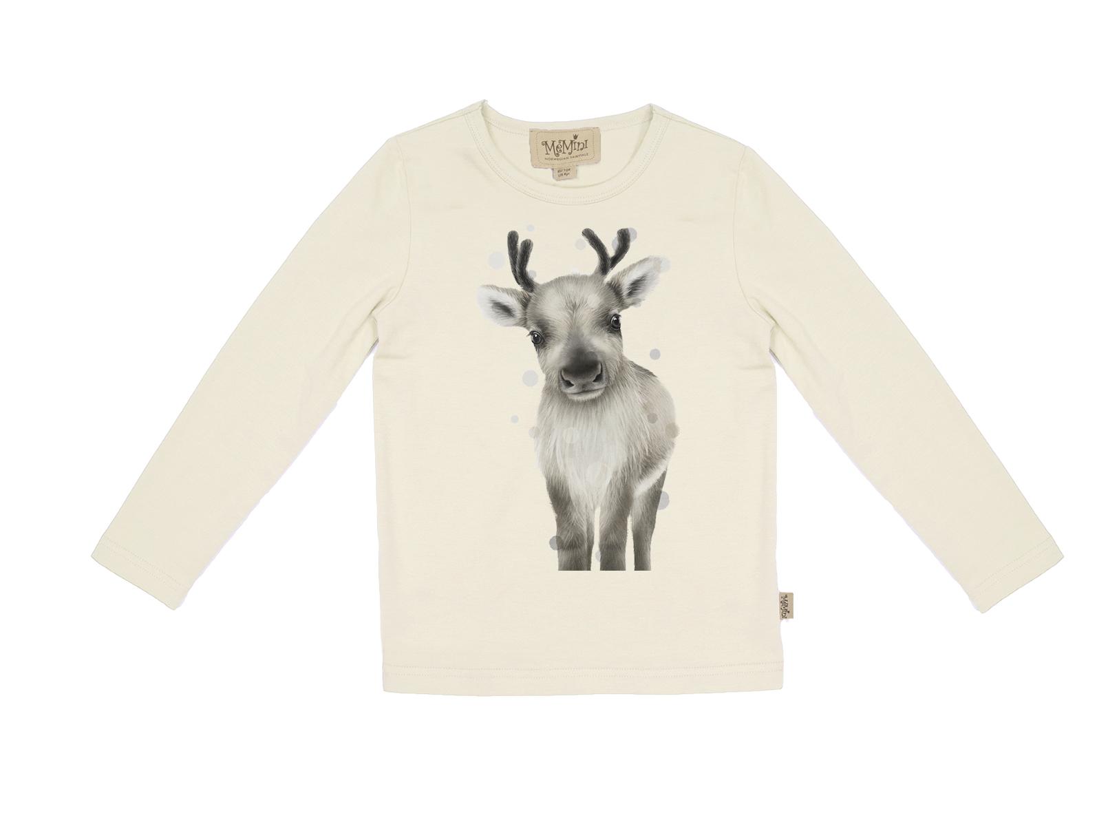 Hvit genser med print MioTrend