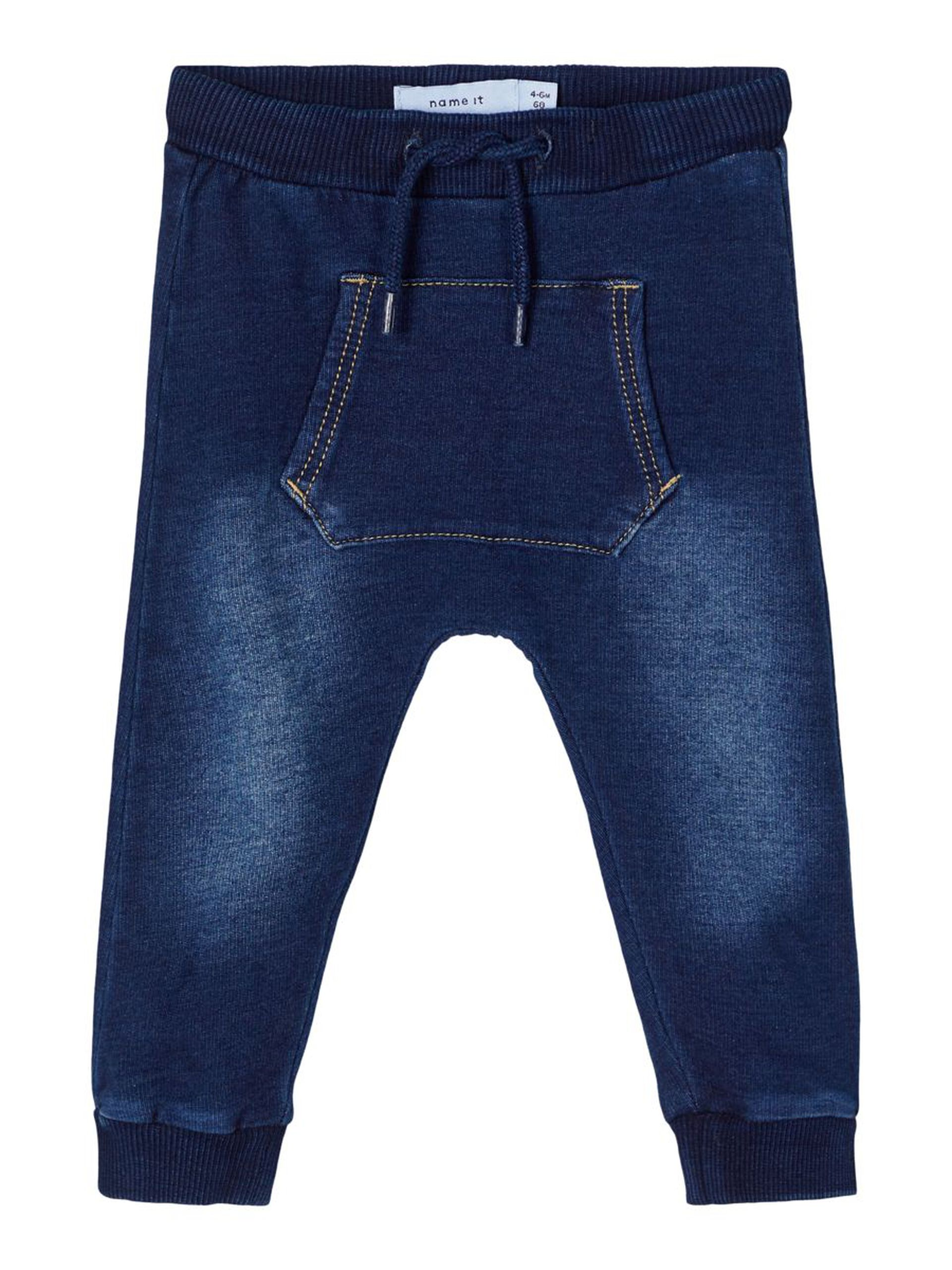 Blå denimbukse baby – Name It myk blå denimbukse  – Mio Trend