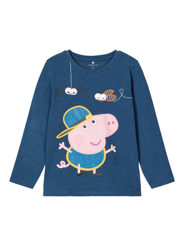 Peppa Gris genser gutt – Name It blå genser Peppa Gris – Mio Trend