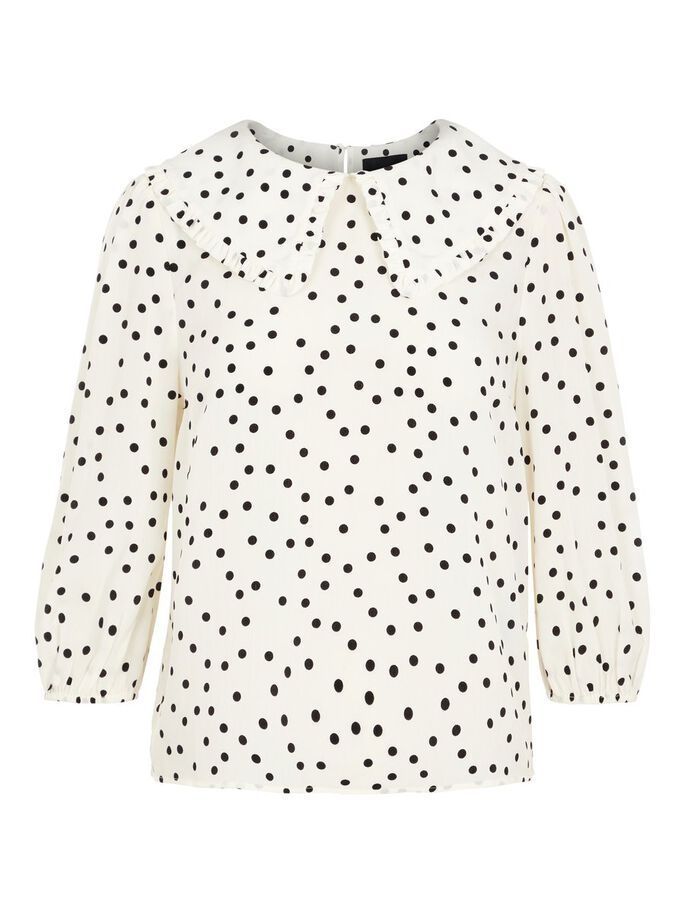 Bluse med sorte prikker