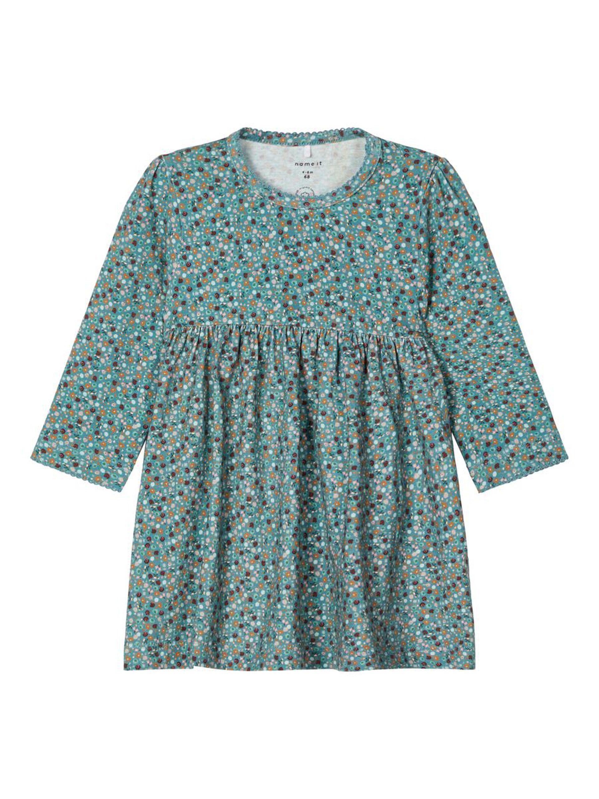 Grønn kjole til baby