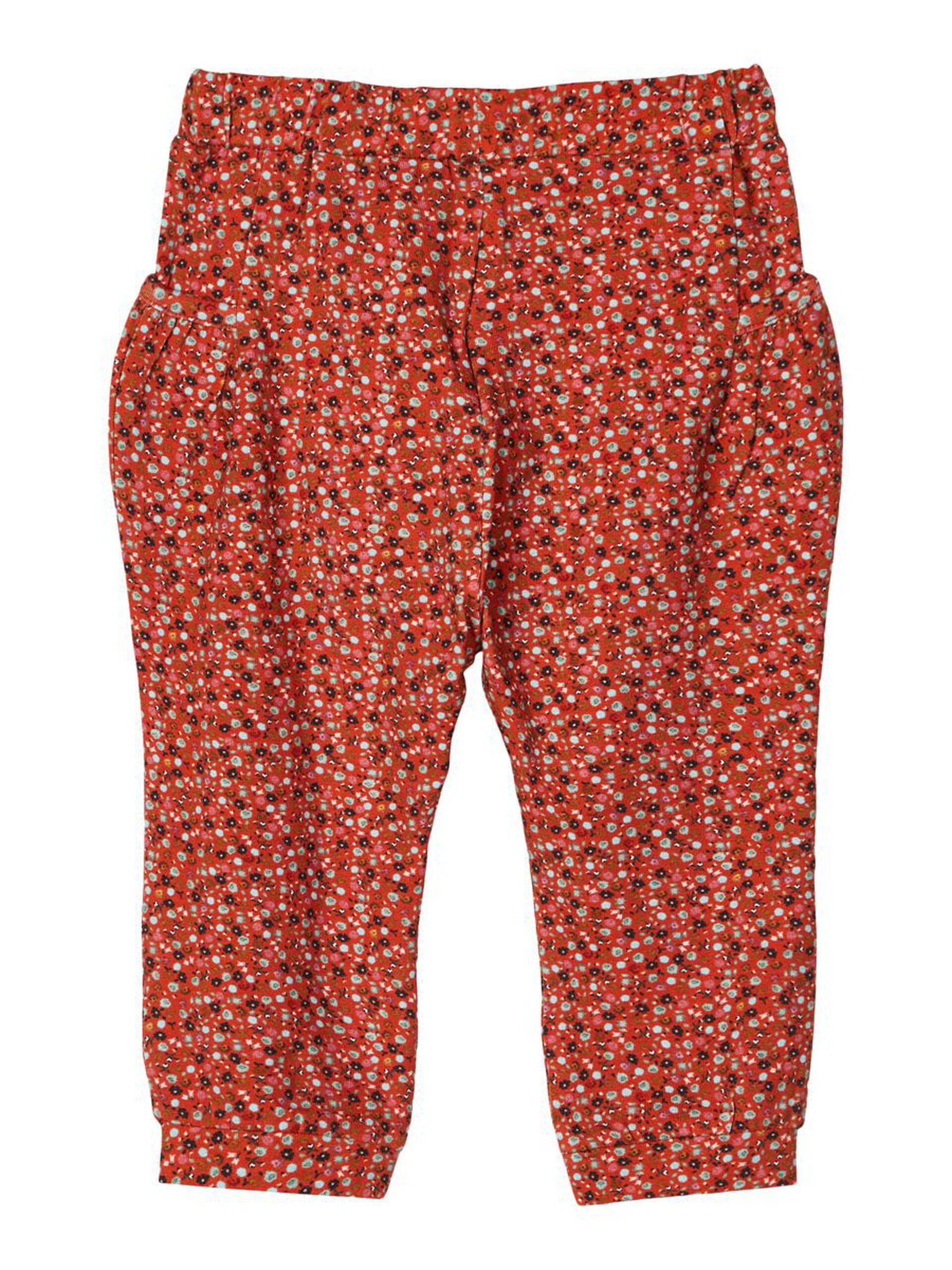 Brun bukse baby jente – Name It brun bukse med blomster Otilia – Mio Trend