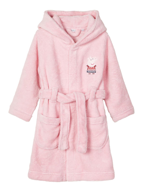 Peppa Gris badekåpe rosa – Nattøy rosa badekåpe Peppa Gris – Mio Trend