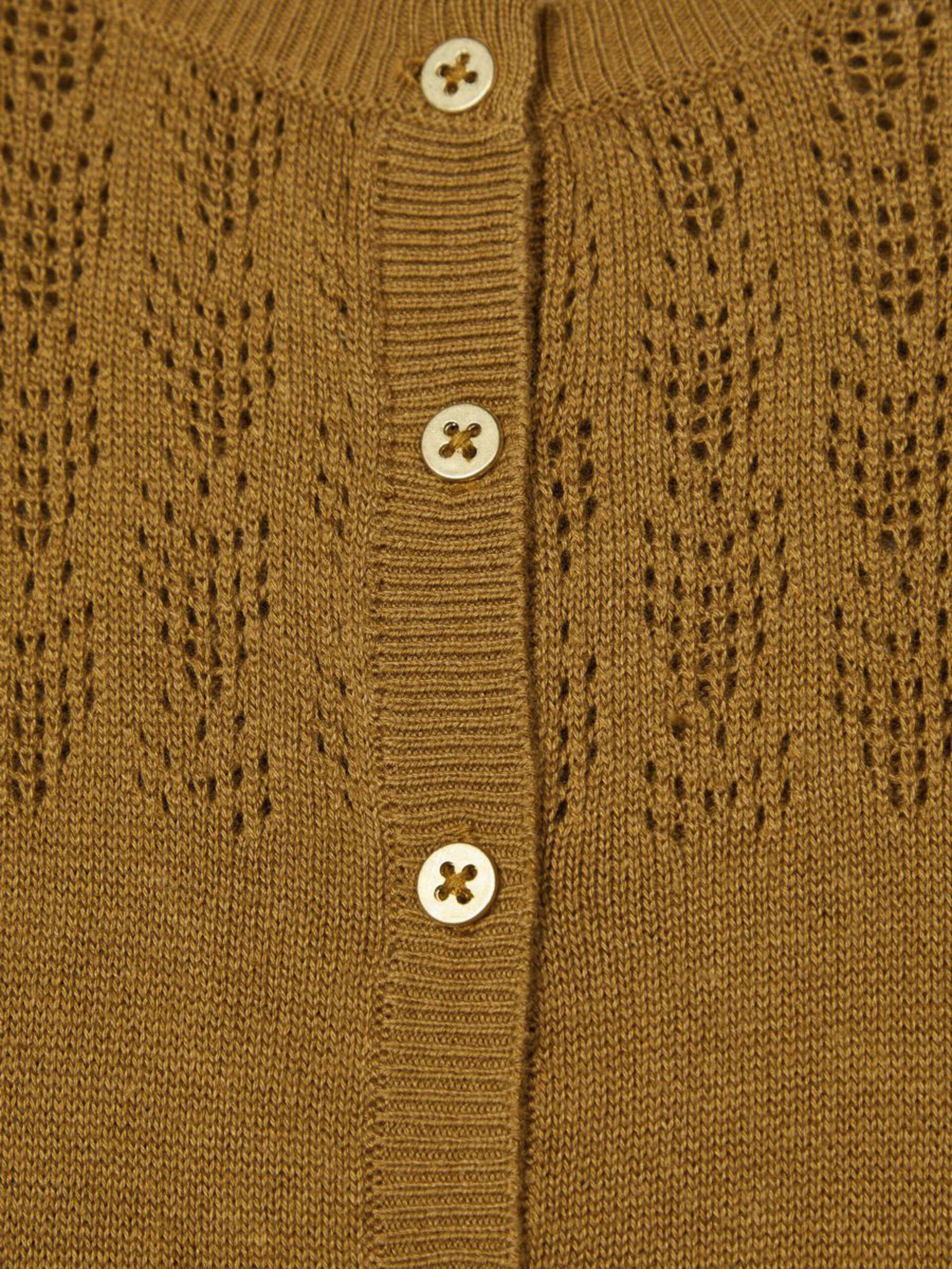 Brun strikkejakke til barn