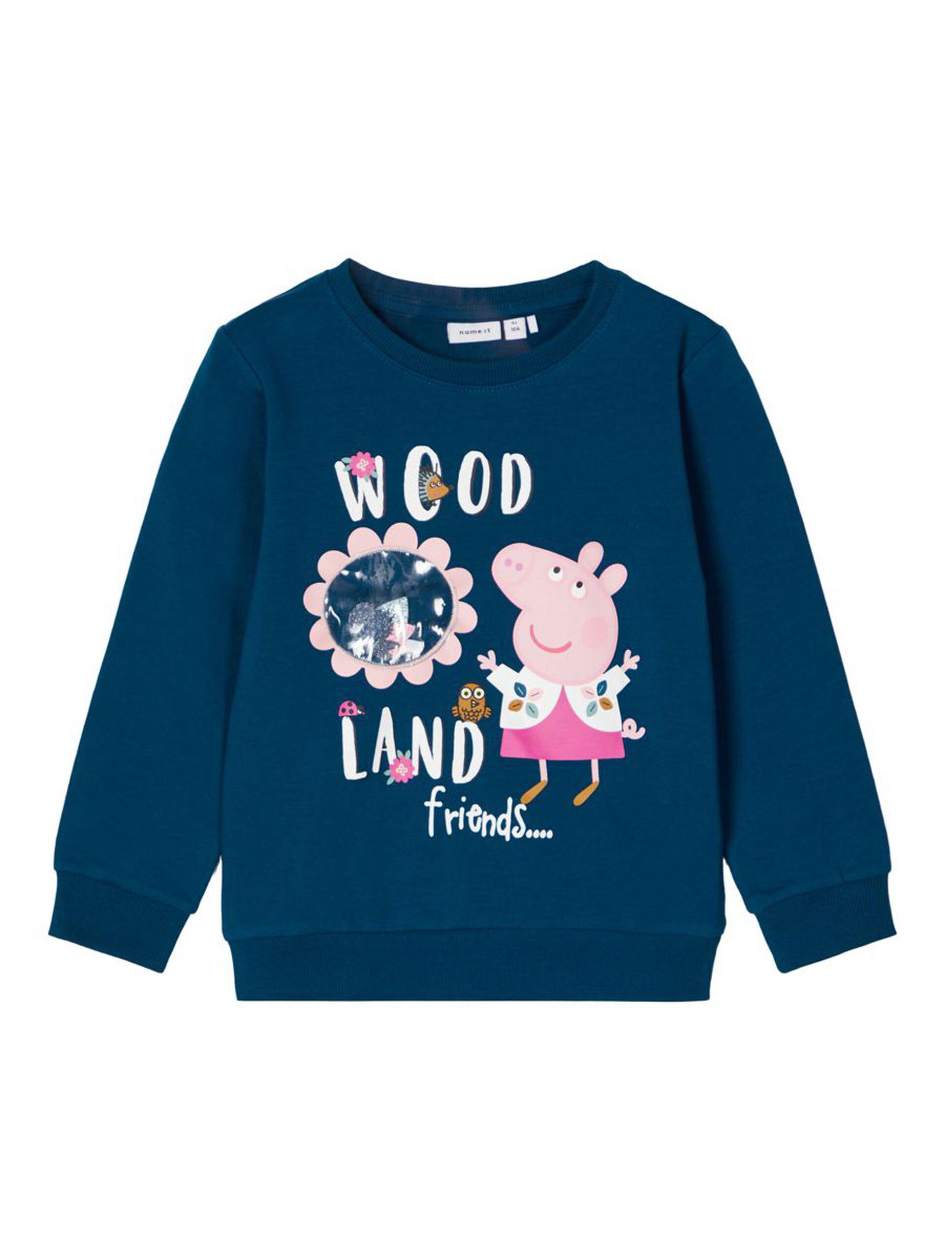 Blå Peppa Gris genser jente
