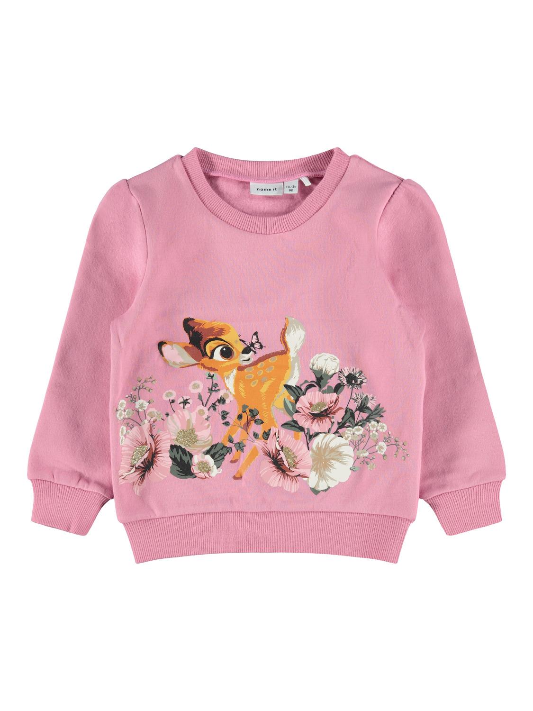 Rosa bambi genser Name It