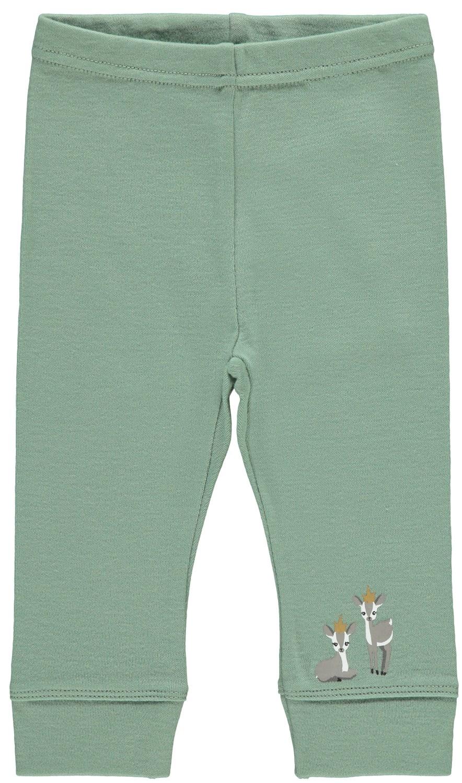 Grønn longs i ull – Ull grønn leggings i ull Willow – Mio Trend