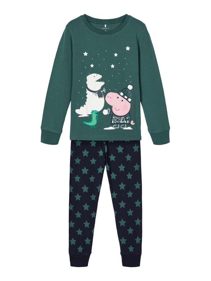 Julepysj Peppa Gris gutt – Name It julepysjamas Peppa Gris grønn – Mio Trend
