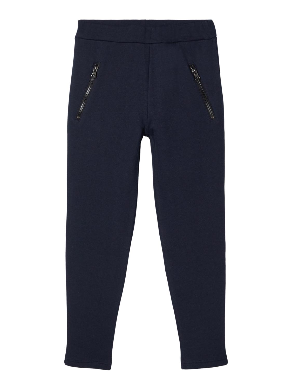 Blå joggebukse jente