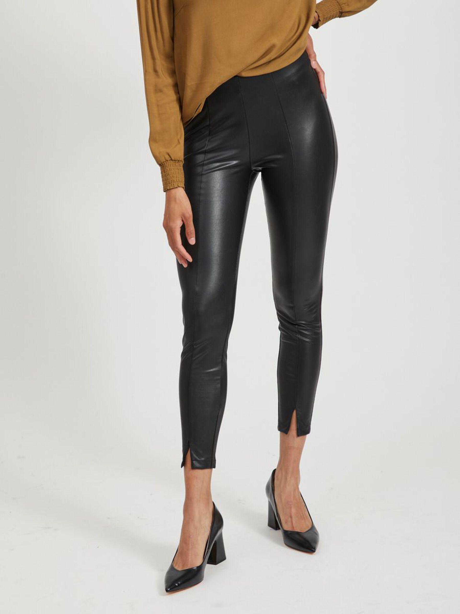 Sort bukse imitert skinn
