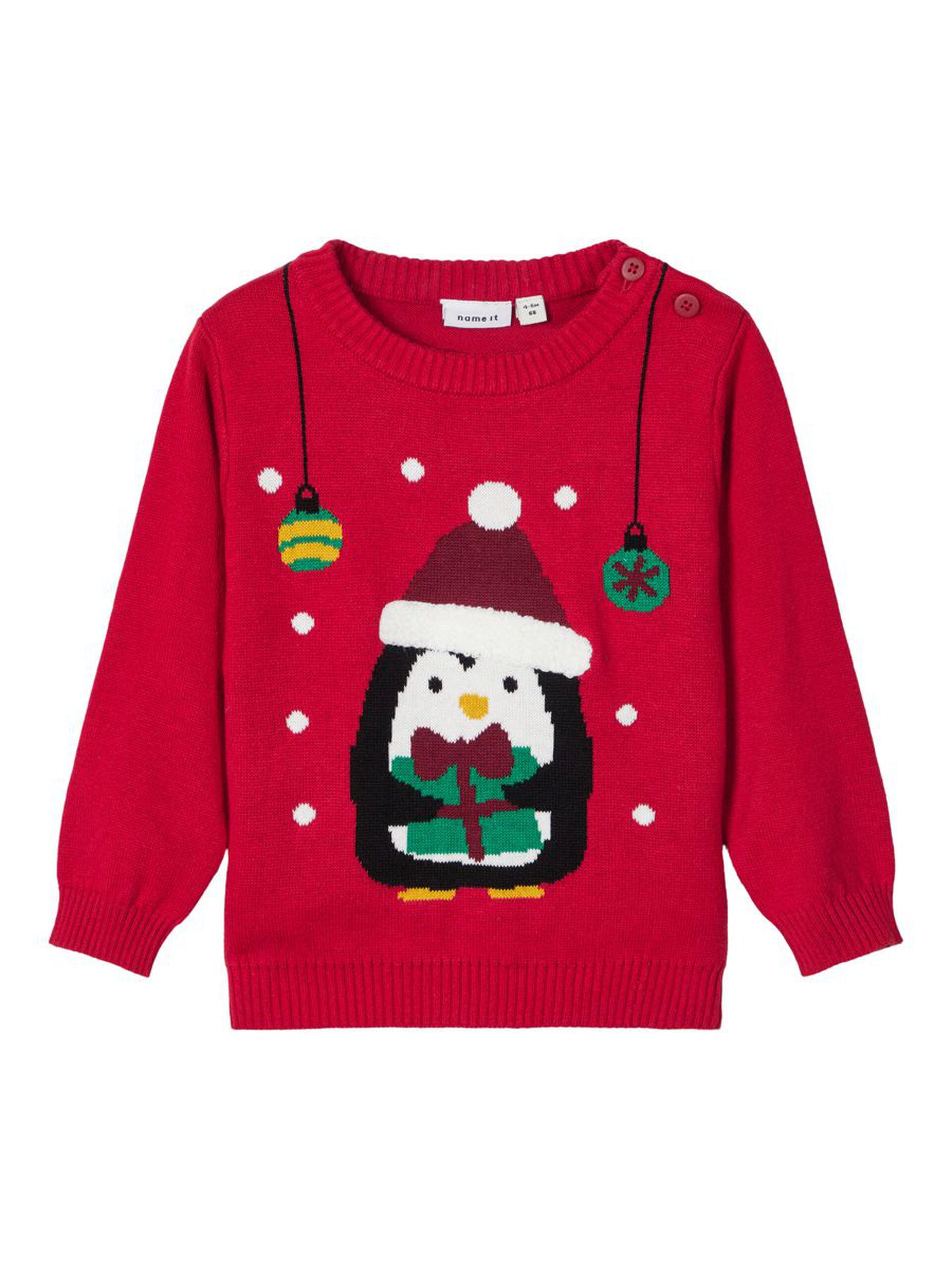 Julegenser til baby Name It – Name It rød julegenser til baby – Mio Trend
