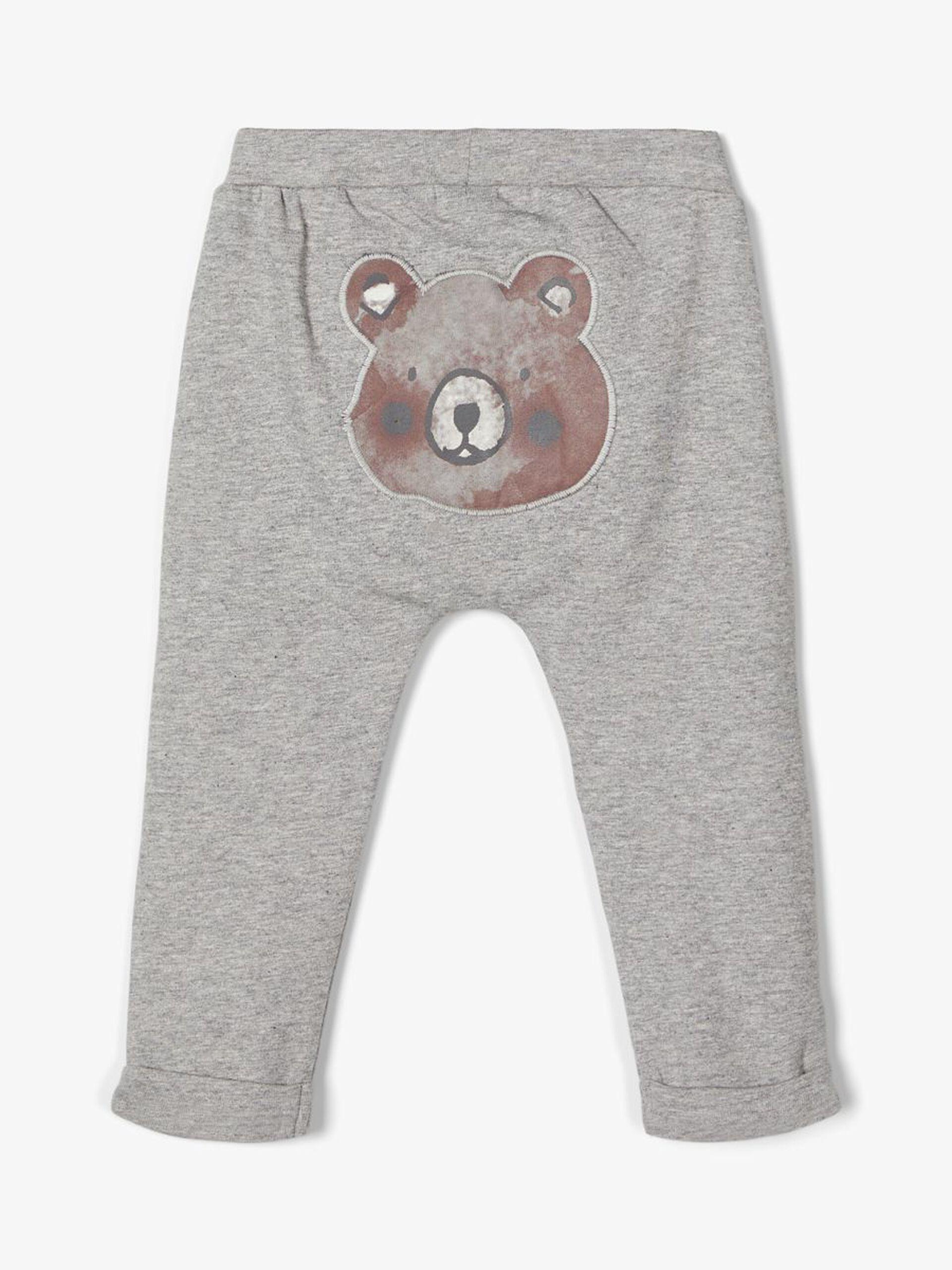 Grå bukse med bamse – Name It grå bukse med bamse bak! – Mio Trend