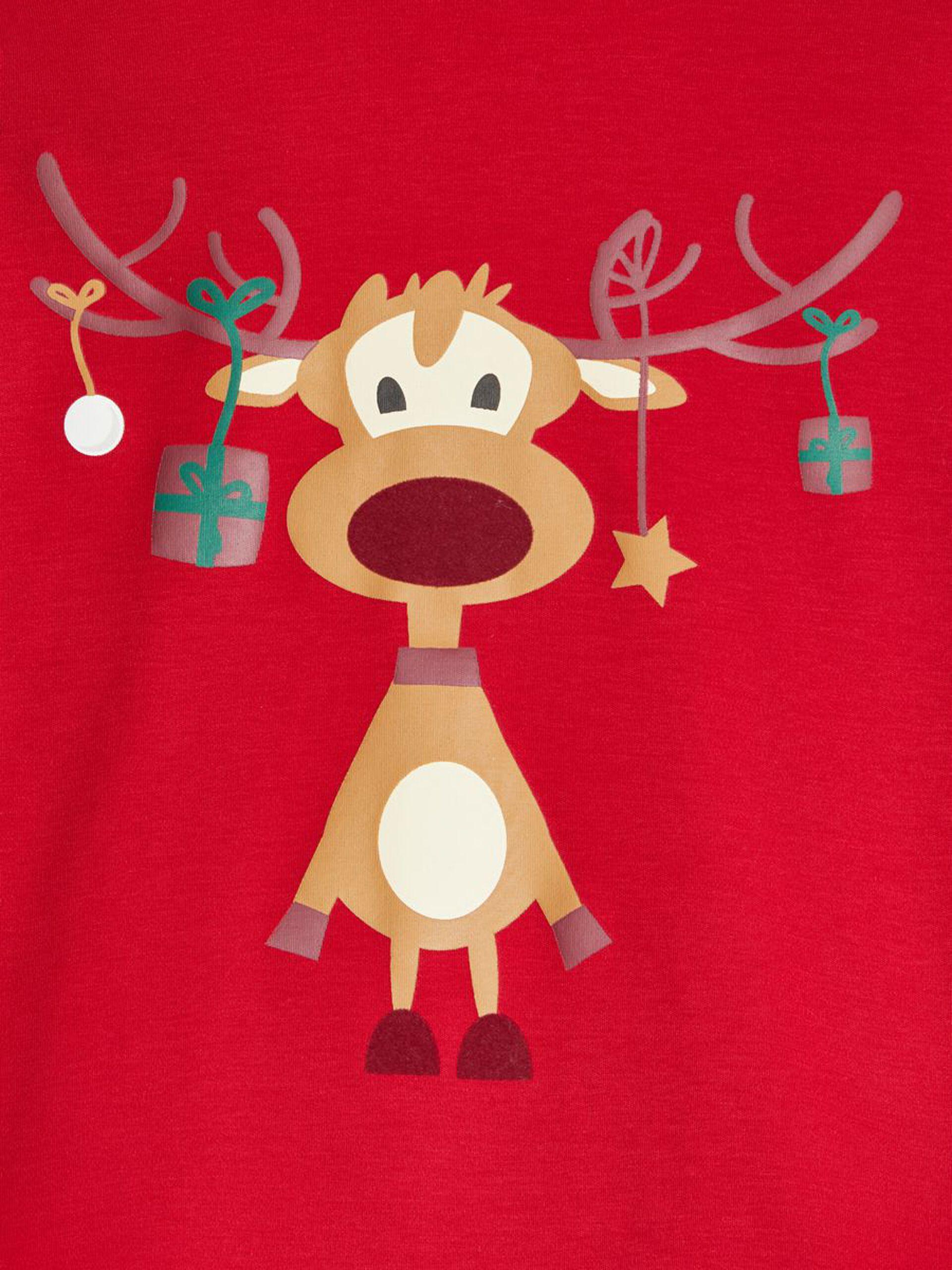 Rød julepysjamas til barn