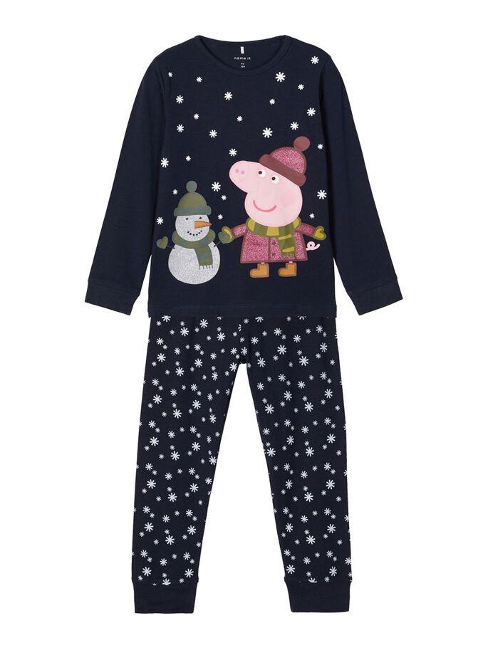 Pysjamas med Pepper Gris – Nattøy blå pysjamas Peppa Gris – Mio Trend