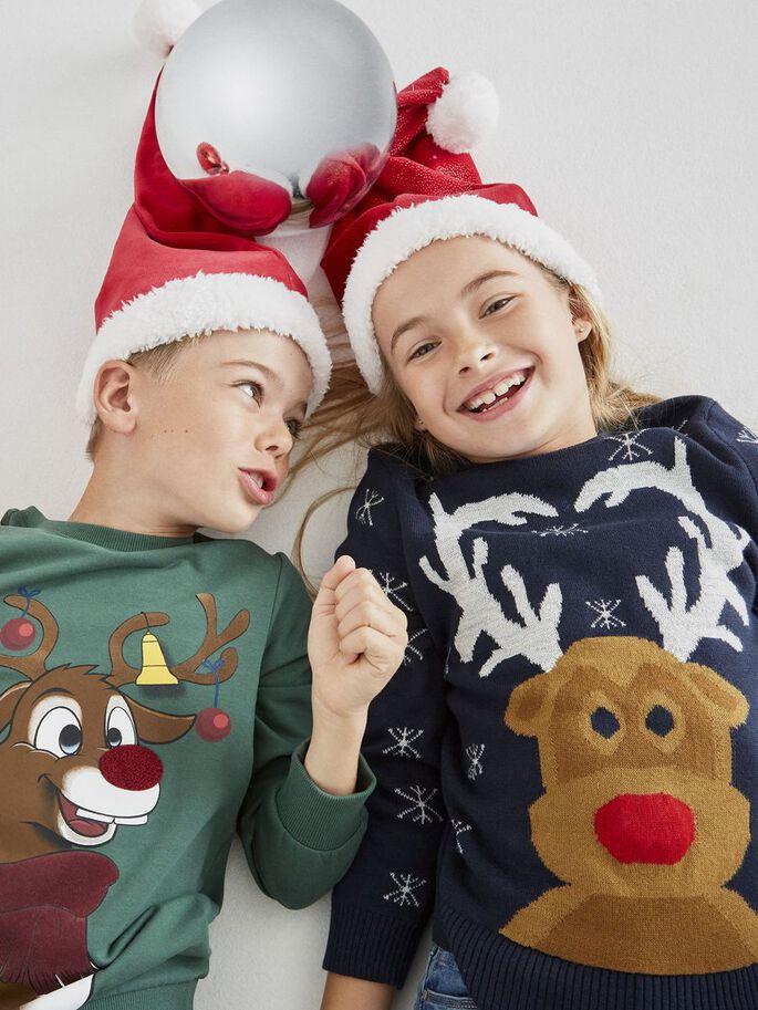 Grønn julegenser barn