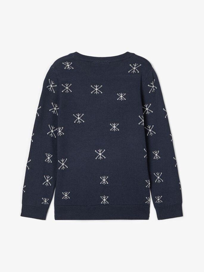 Blå julegenser til barn