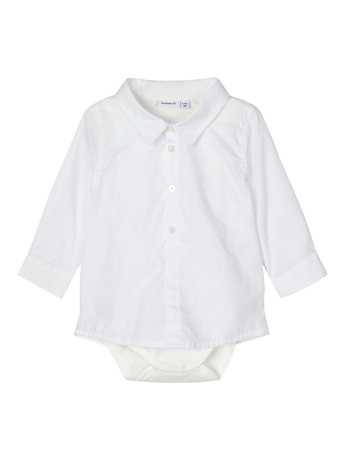 Hvit skjortebody baby