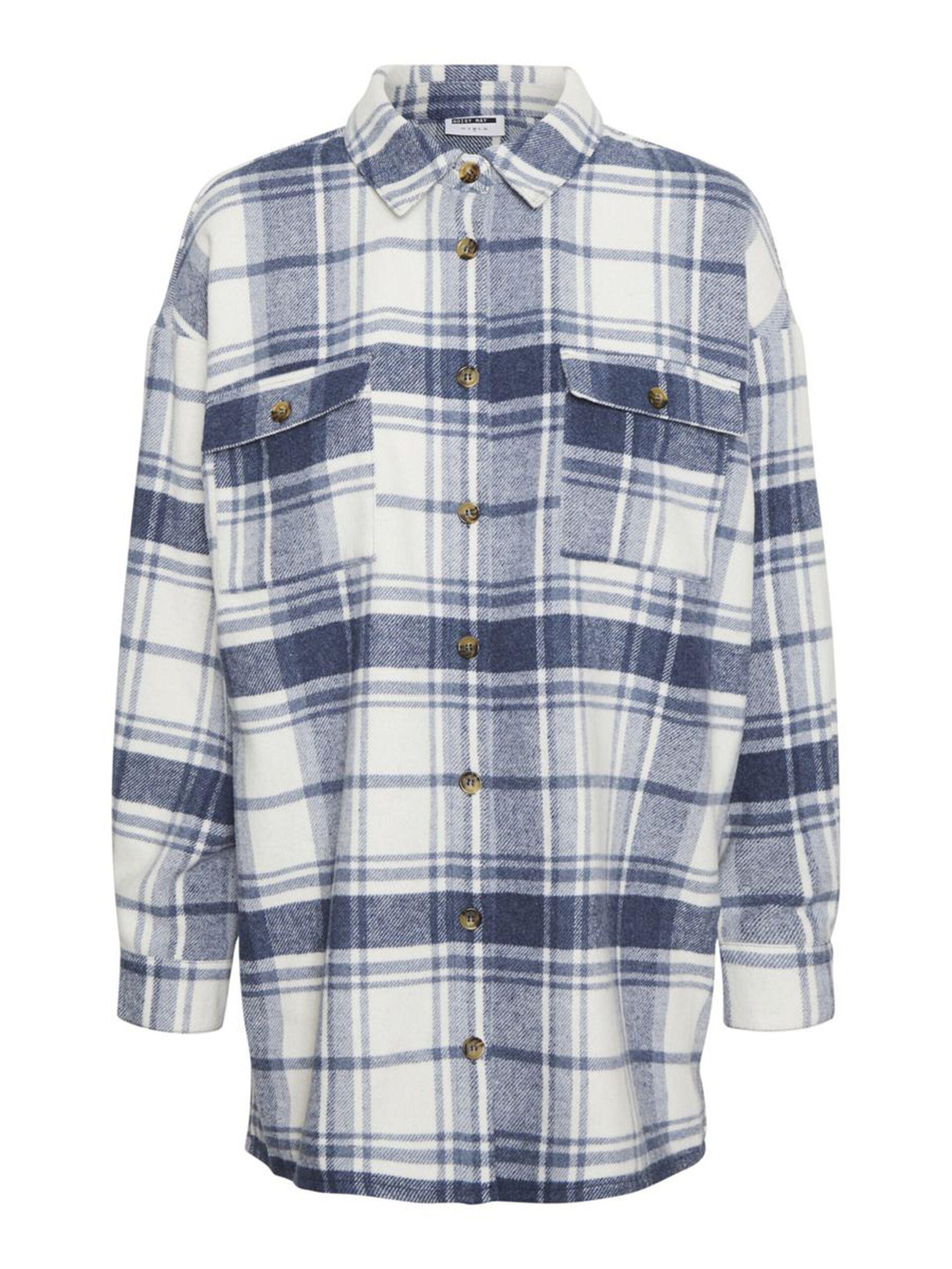 Blå flanellskjorte Noisy May