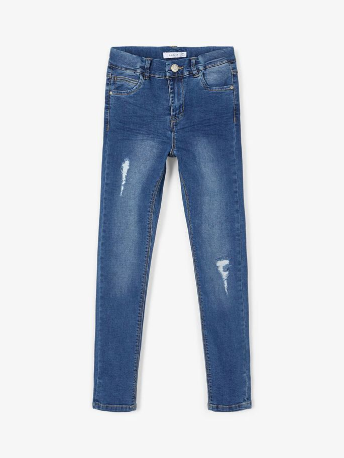 Smal jeans til jente – Name It high waist smal jeans Polly – Mio Trend
