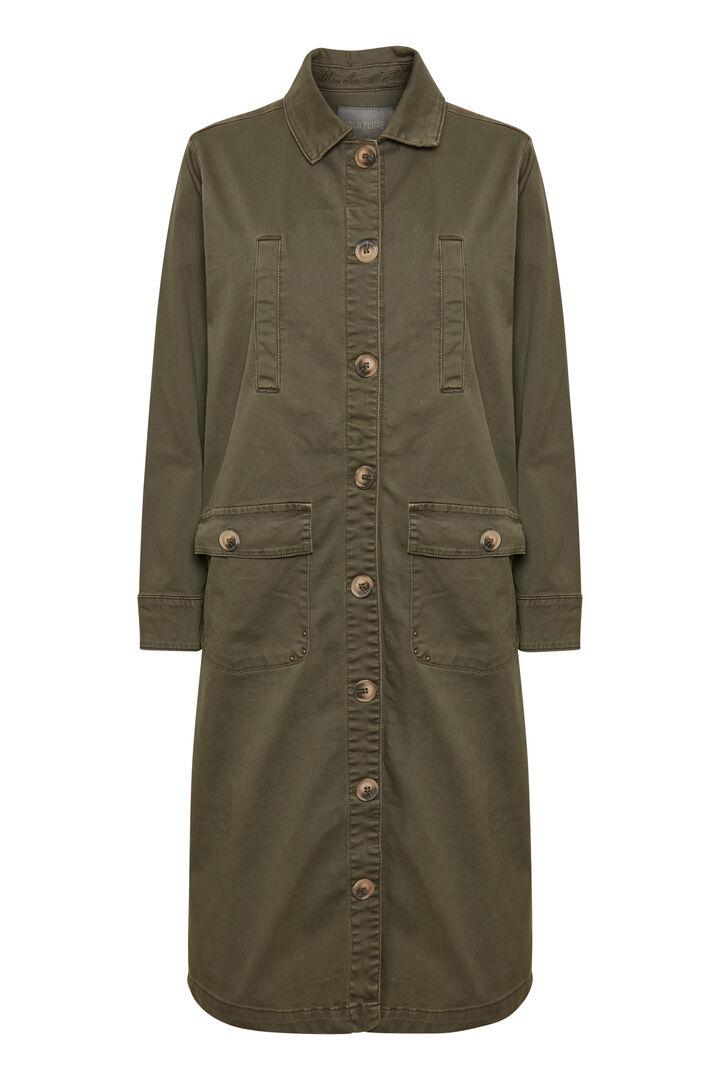 grønn lang jakke Alba